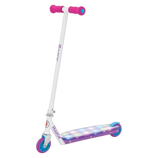 Razor Party Pop Kick Scooter with LED Lights - White image number null