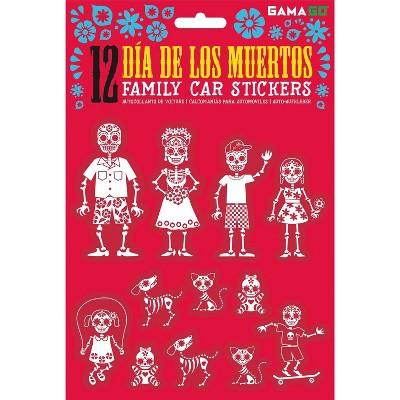 Gamago GAMAGO Dia De Los Muertos Car Stickers | Set of 12
