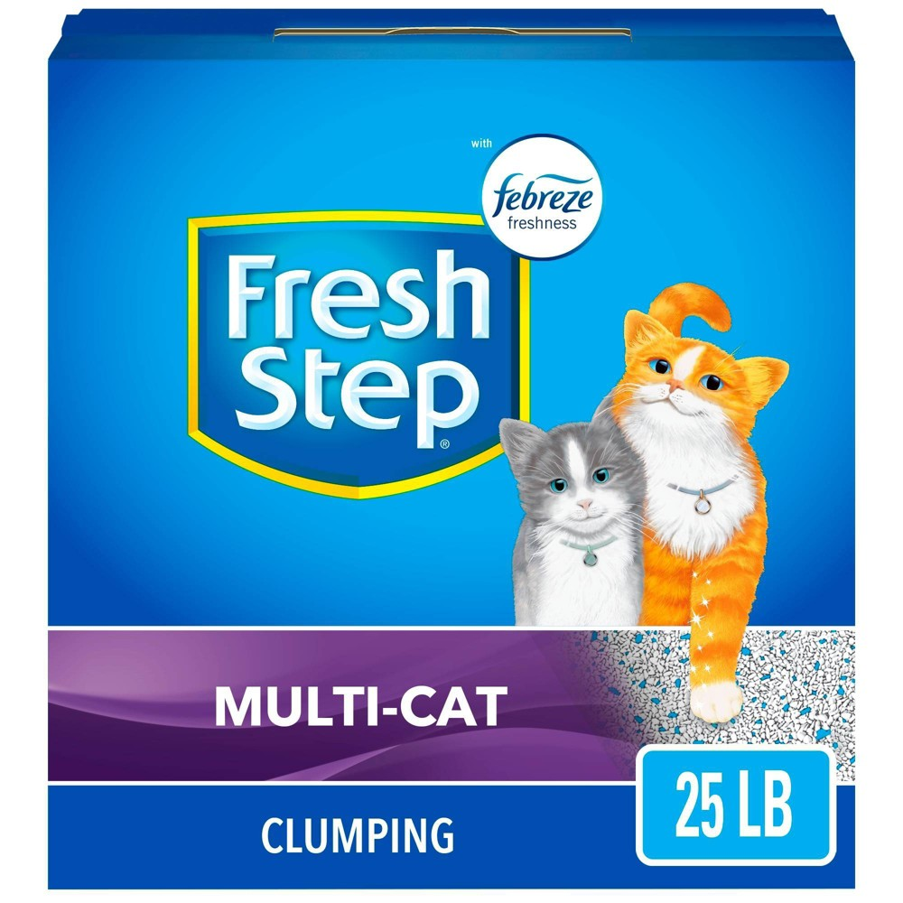 Fresh Step Multi-Cat Scented Litter with the Power of Febreze Clumping Cat Litter - 25lb Cheap
