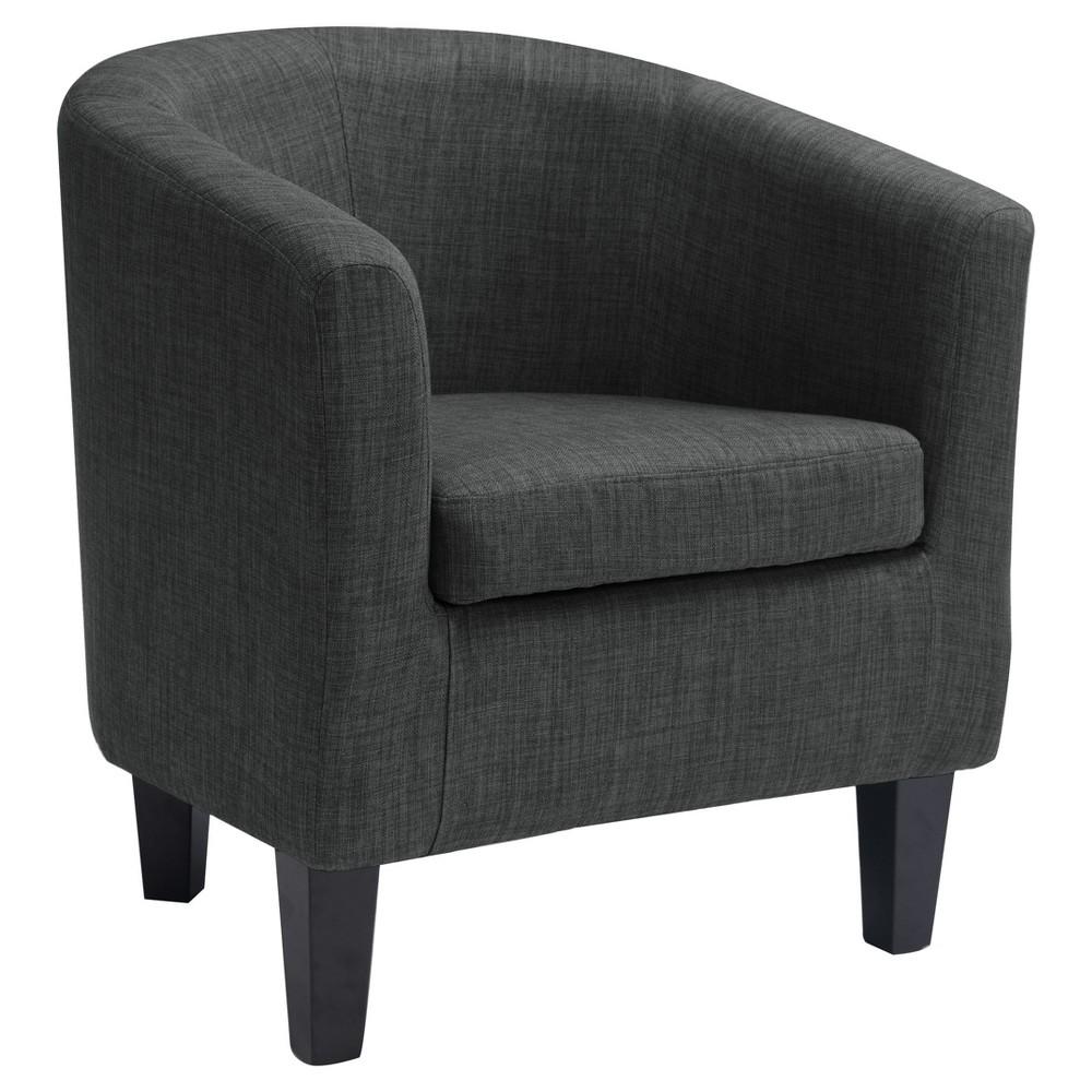 Antonio Tub Chair - Dark Grey - Corliving, Dark Gray