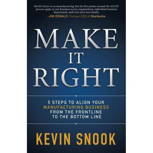 Make It Right - by  Kevin Snook (Paperback) - image 1 of 1