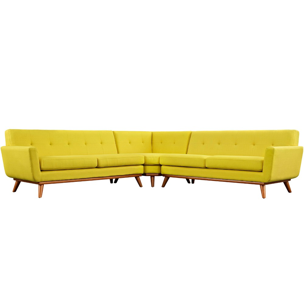Engage L Shaped Sectional Sofa Sunny - Modway