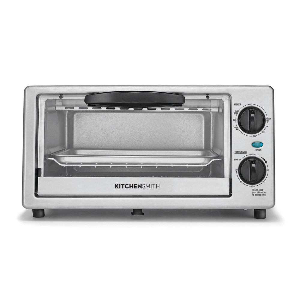 Image of KitchenSmith Toaster Oven - Stainless Steel, Black Silver