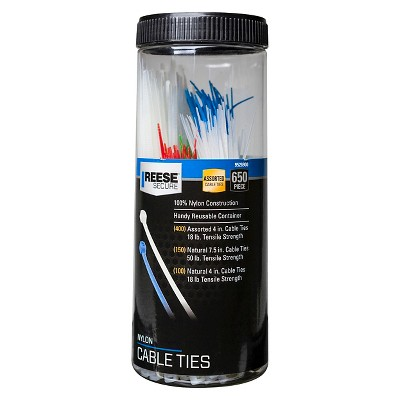 Reese 650-ct Assorted Nylon Cable Ties