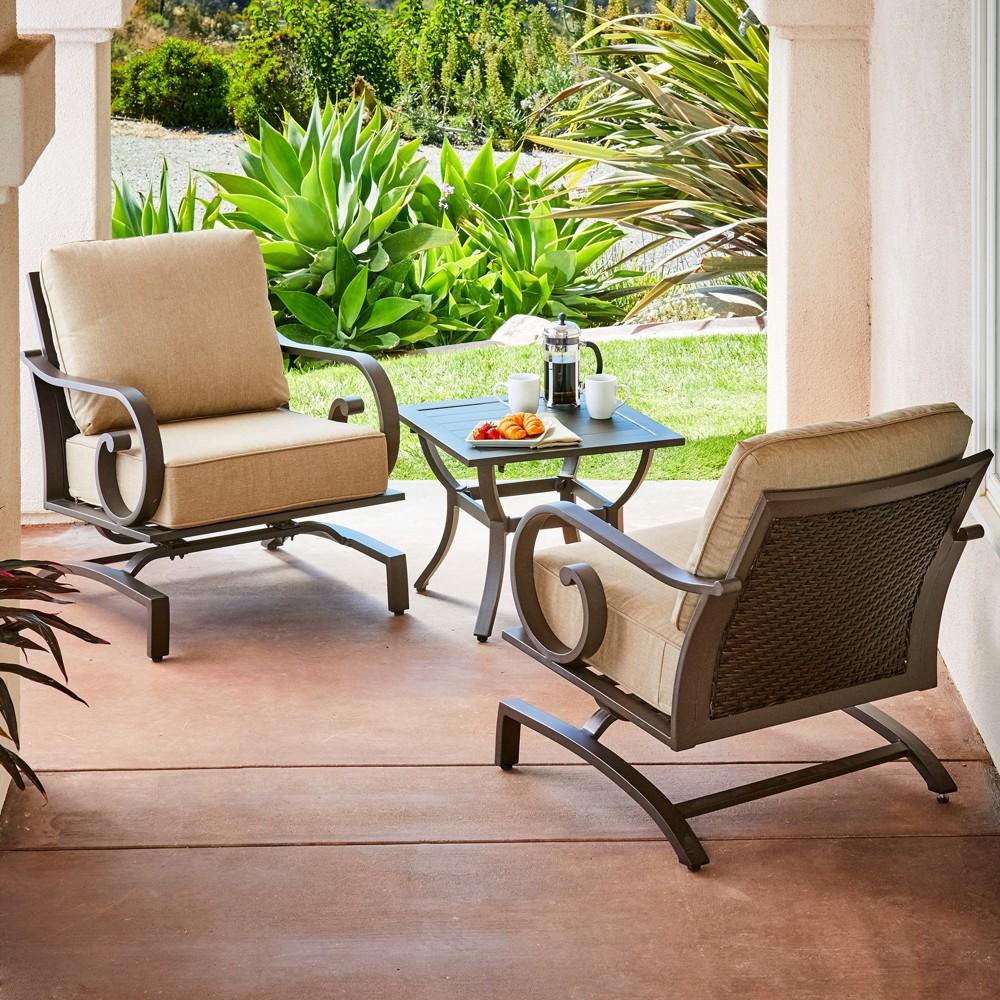 Image of 3pc Milano Seating Set Tan - Royal Garden