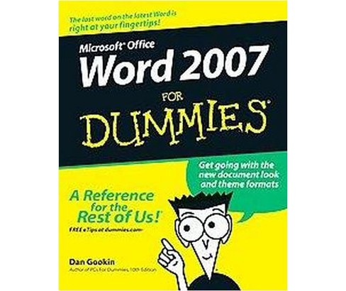 Word 2007 for Dummies (Paperback) (Dan Gookin) - image 1 of 1