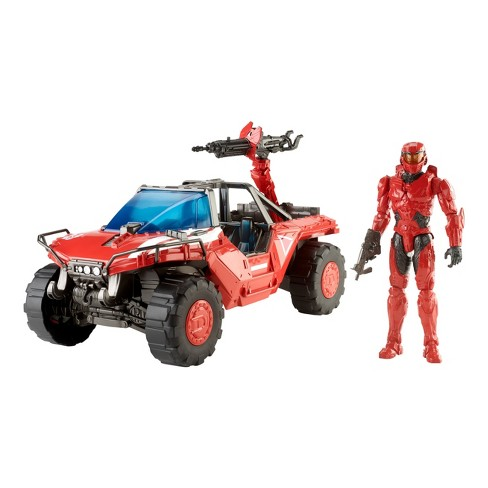 HALO Team Red Warthog and Master Chief Mark IV Figure - image 1 of 7