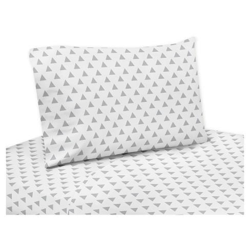 Gray & White Sheet Set (Twin) - Sweet Jojo Designs® - image 1 of 1