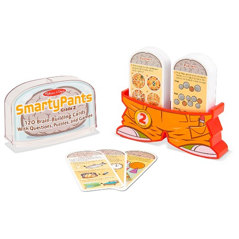 Melissa & Doug® Smarty Pants 2nd Grade Card Set - 120 Educational Brain-Building Questions, Puzzles, and Games - image 1 of 3