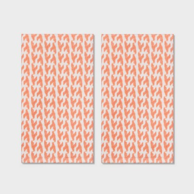 2pk Lionstooth Hand Towel Coral - Threshold™