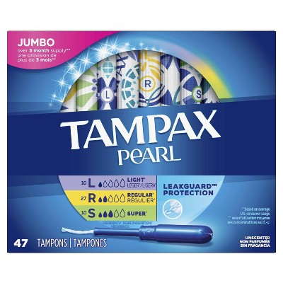 Tampax Pearl Multipack Tampons With LeakGuard Protection : Target