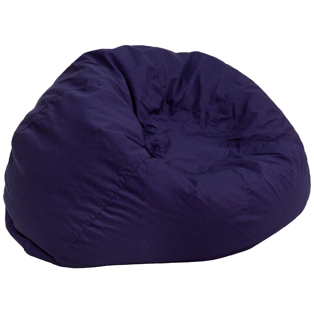 Riverstone Furniture Collection Bean Bag Chair Navy Blue