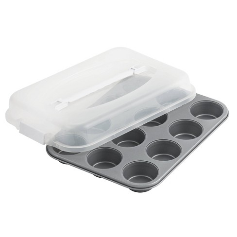 OvenStuff 12 Cup Non Stick Muffin Pan with Lid - image 1 of 3