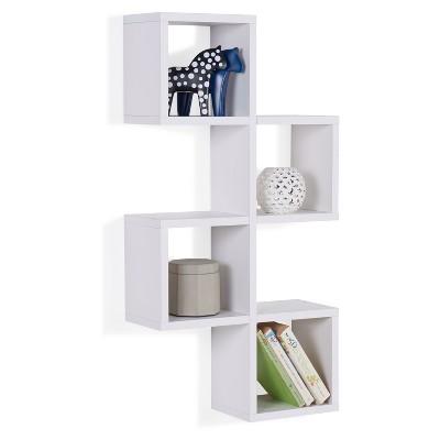 Cubby Chessboard Wall Shelf - White - Danya B.