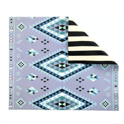 Baby Relax Moroccan + Stripe Reversible Play Mat Blue