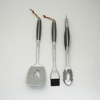 IGNITE 3pc Grilling Tool Set With PAKKA Handles