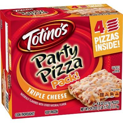 Totino's Triple Cheese Frozen Party Pizza - 39.2oz/4pk
