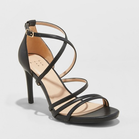 Women's Gal Strappy Stiletto Heeled Pumps - A New Day™ - image 1 of 3