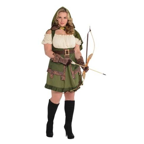Adult Plus Robin Hoodie Halloween Costume - image 1 of 1