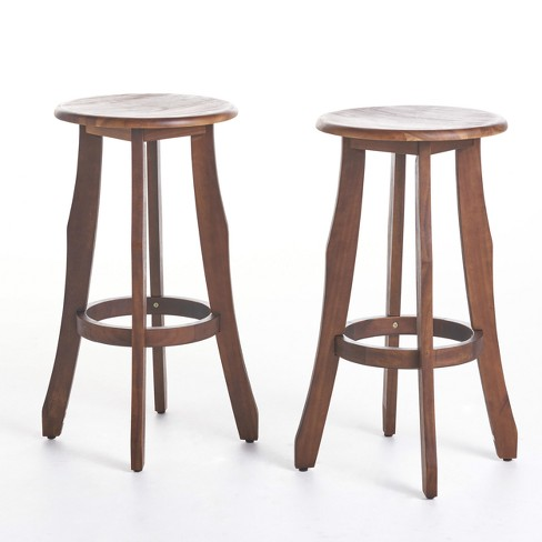 Pike Set of 2 Acacia Barstool - Christopher Knight Home - image 1 of 3