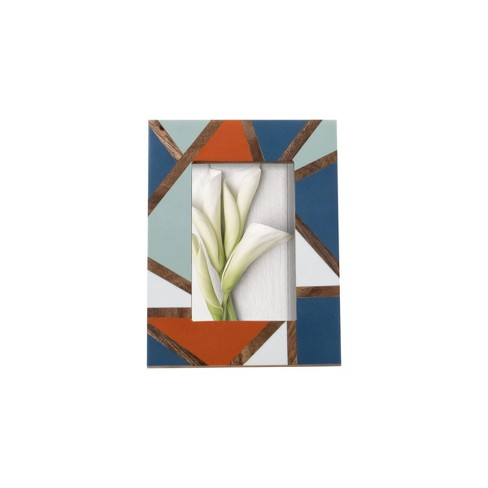 Multicolor 4 x 6 inch Decorative Wood and Resin Picture Frame - Foreside Home & Garden - image 1 of 4