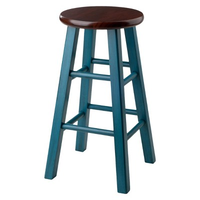 Ivy 24  Counter Stool - Teal - Winsome