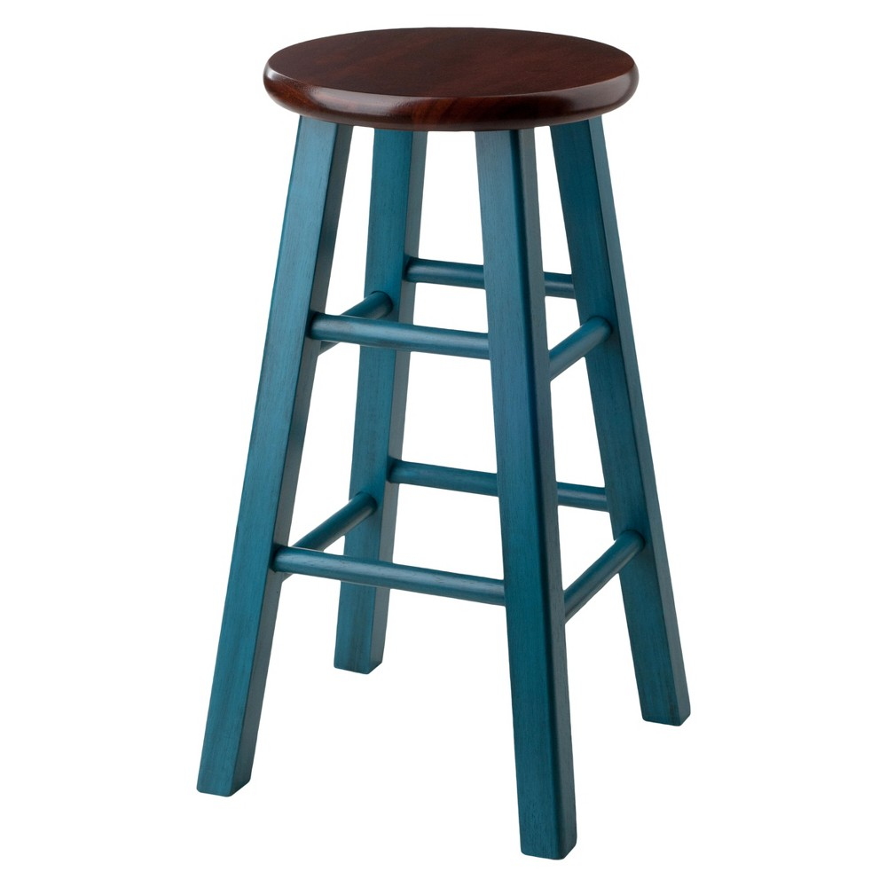 "Image of ""24"""" Ivy Counter Stool - Teal - Winsome"""