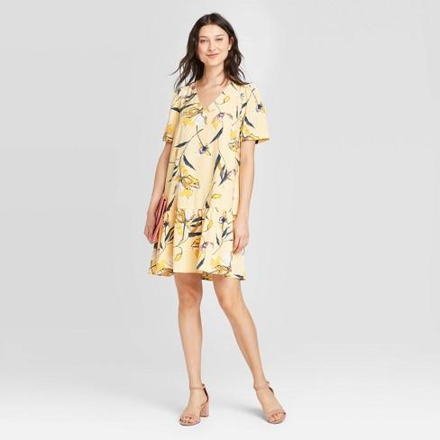 Women's Short Sleeve Ruffle Hem Dress - A New Day™ - image 1 of 3