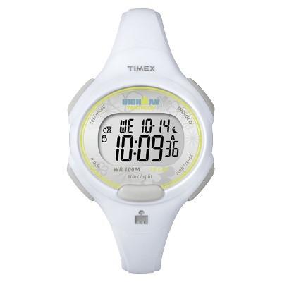 Women's Timex Ironman Essential 10 Lap Digital Watch - White T5K606JT