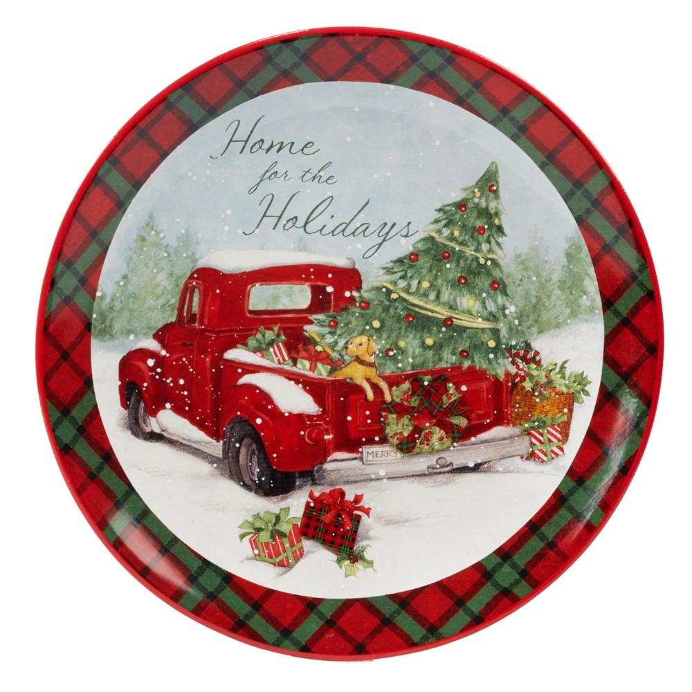 Image of 13 Home For Christmas Ceramic Serving Platter - Certified International