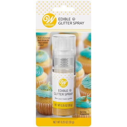 Wilton .35oz Food Coloring Edible Glitter Spray - Gold