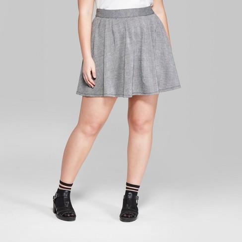 cdf876c4b7 Women's Plus Size Plaid Mini Skirt - Wild Fable™ Gray 1X : Target