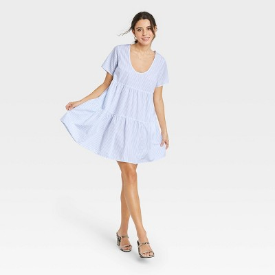 Women's Short Sleeve Tiered Dress - A New Day™