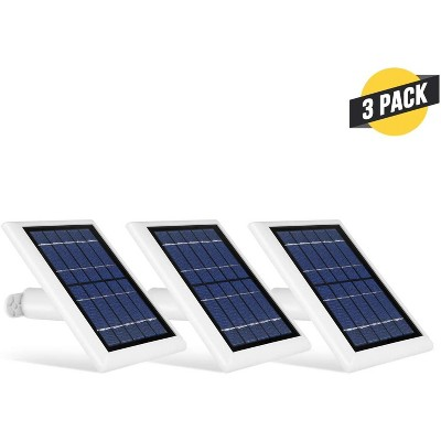 Wasserstein Solar Panel Compatible with Ring Spotlight Cam Battery and Ring Stick Up Cam Battery (3 Pack)
