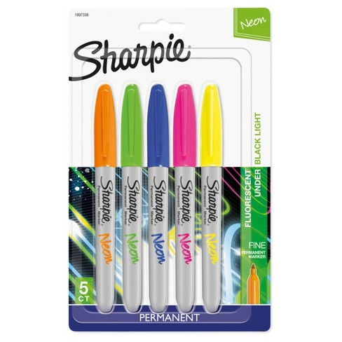 Sharpie Neon Permanent Marker in Assorted Colors - 5c - image 1 of 9