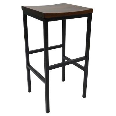 "30"" Ira Barstool Metal/Chestnut - Carolina Chair & Table"