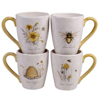 22oz 4pk Earthenware Sweet As A Bee Mugs - Certified International