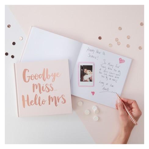 """Goodbye Miss Hello Mrs"" Advice Book - image 1 of 3"