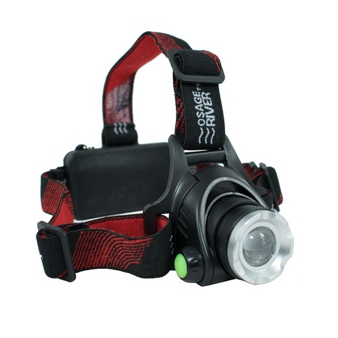 Osage River Rechargeable LED Headlamp, 3 Modes, Includes Batteries, USB Cable, Wall and Car Charger - image 1 of 4