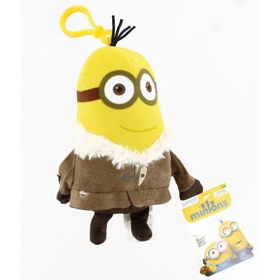 "Commonwealth Toys Minion Movie Tall Winter Minion (2 Eyes) Clip-On 5"" Plush"