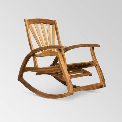 Sunview Acacia Wood Recliner Rocking Chair - Christopher Knight Home