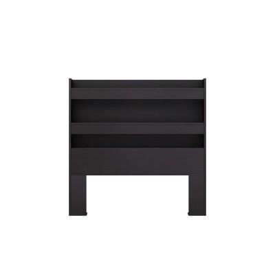 Twin Emerson Bookcase Headboard Black/Brown   Loft 607 by Loft 607