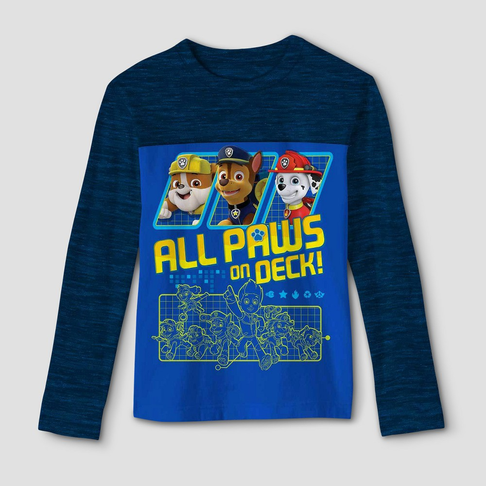 Boys' Paw Patrol Long Sleeve T-Shirt - Royal S, Blue