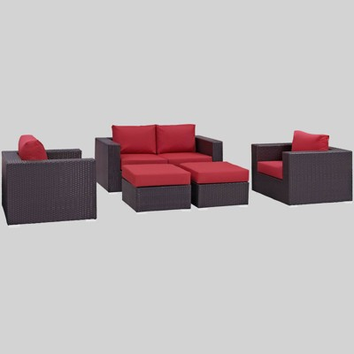 Convene 5pc Outdoor Patio Sofa Set - Modway