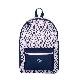"Ivory Ella 17.5"" Backpack - Pink/Blue Diamond Mosaic"