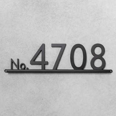 House Numbers Channel Bracket Black 5 Spaces - Hearth & Hand™ with Magnolia