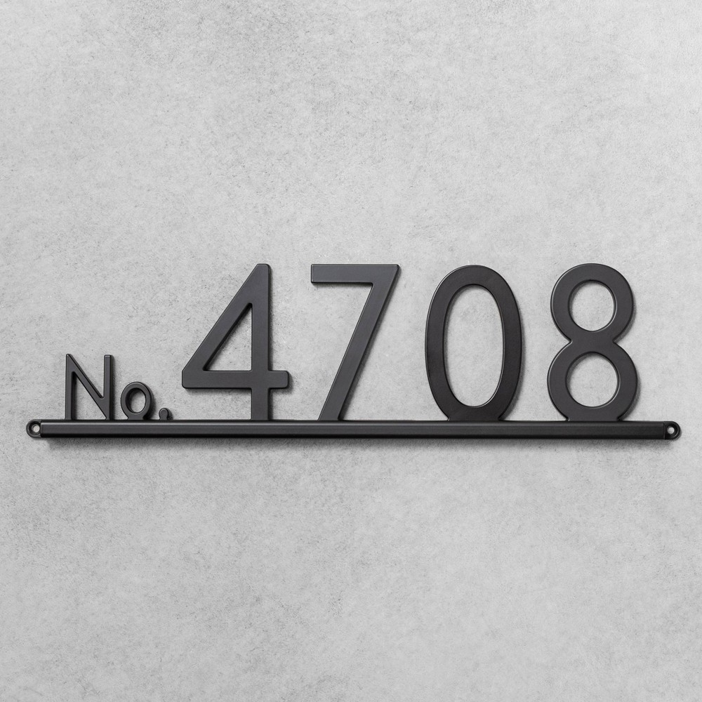 House Numbers Channel Bracket Black 5 Spaces - Hearth & Hand with Magnolia