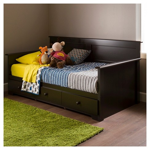 "Summer Breeze Twin Daybed with Storage - 39""- Chocolate - South Shore - image 1 of 5"