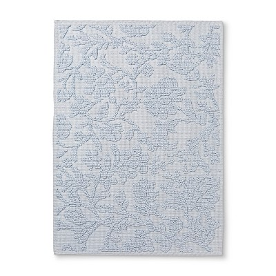 30 x21  Floral Bath Mat Light Blue Floral - Threshold™