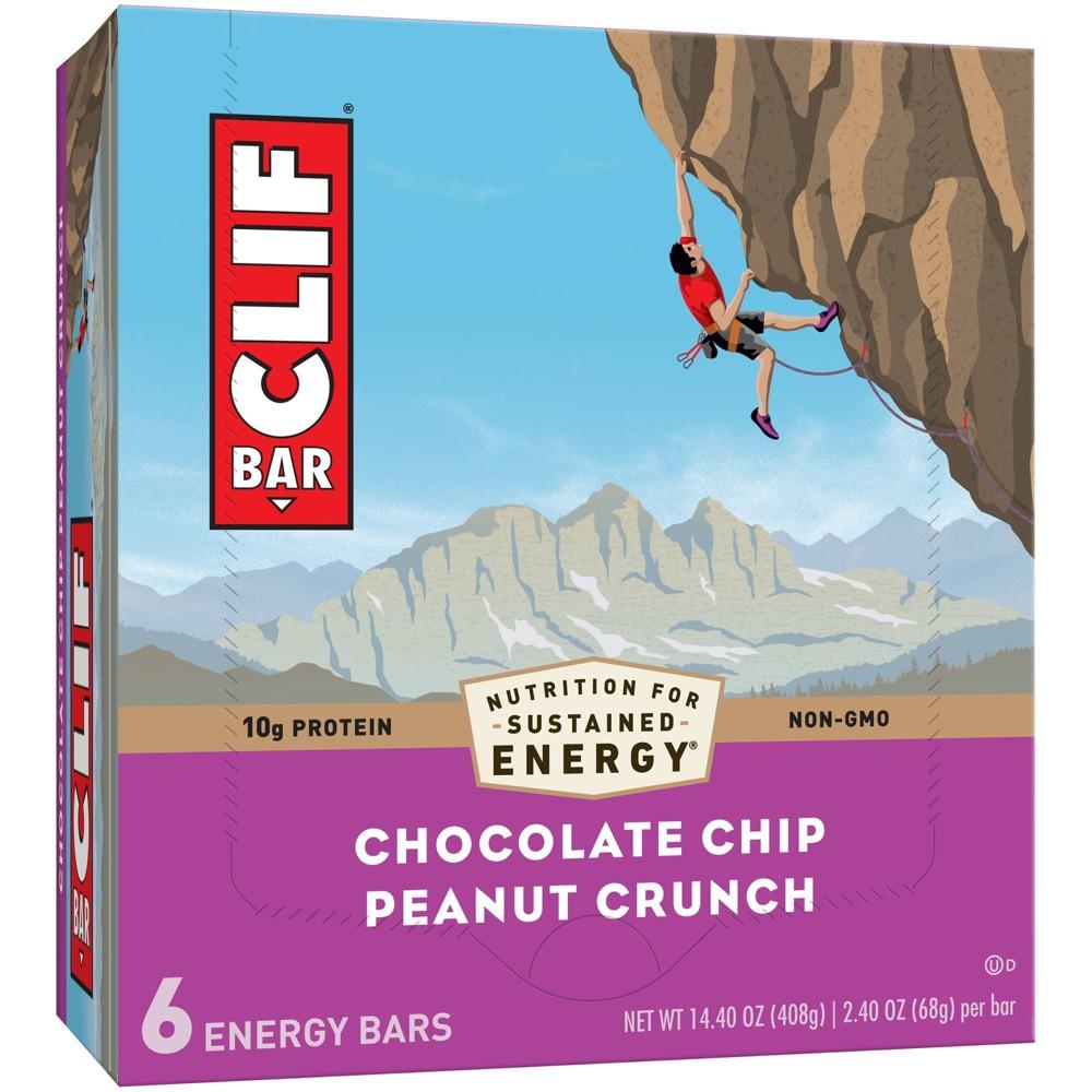 Clif Bar Chocolate Chip Peanut Crunch Energy Bars 6ct